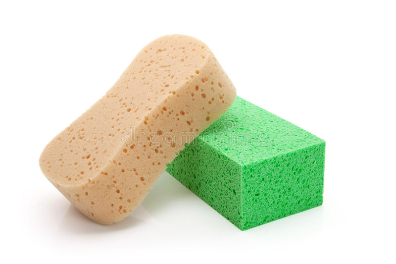 Download Yellow and green Sponge stock photo. Image of scrubbing - 14858892