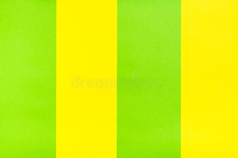Yellow green stripes of cardboard. Bright background royalty free stock images