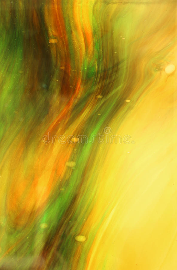 Yellow and Green Swirls stock images