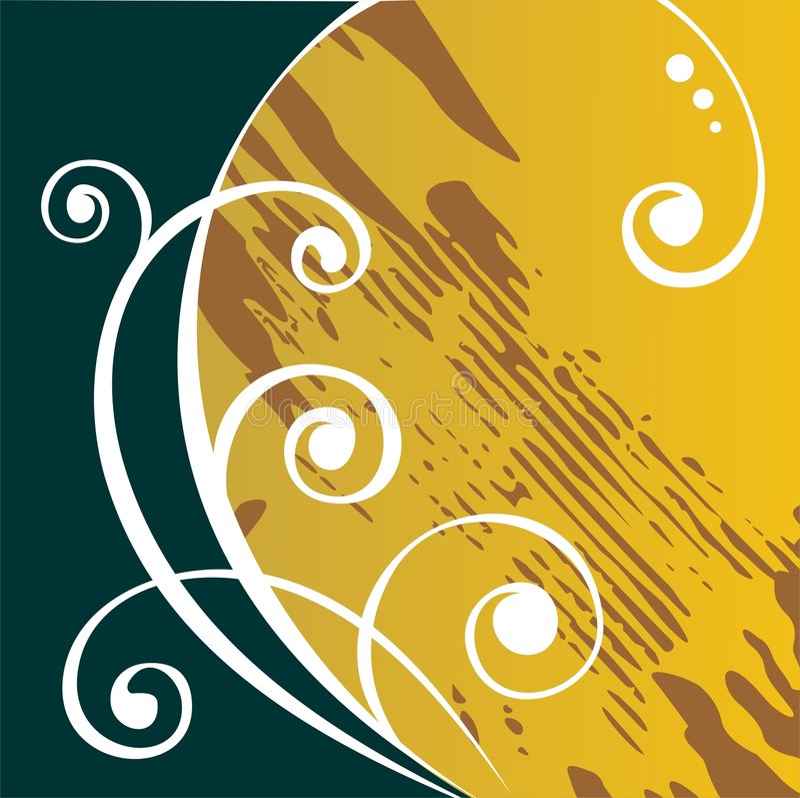 Yellow grunge pattern vector illustration