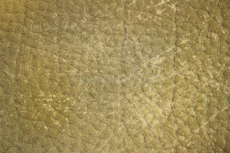 Yellow grungy leather surface stock photography