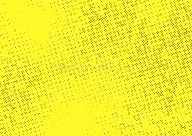 Yellow Halftone Dotted Contrast Background Template Stock Vector