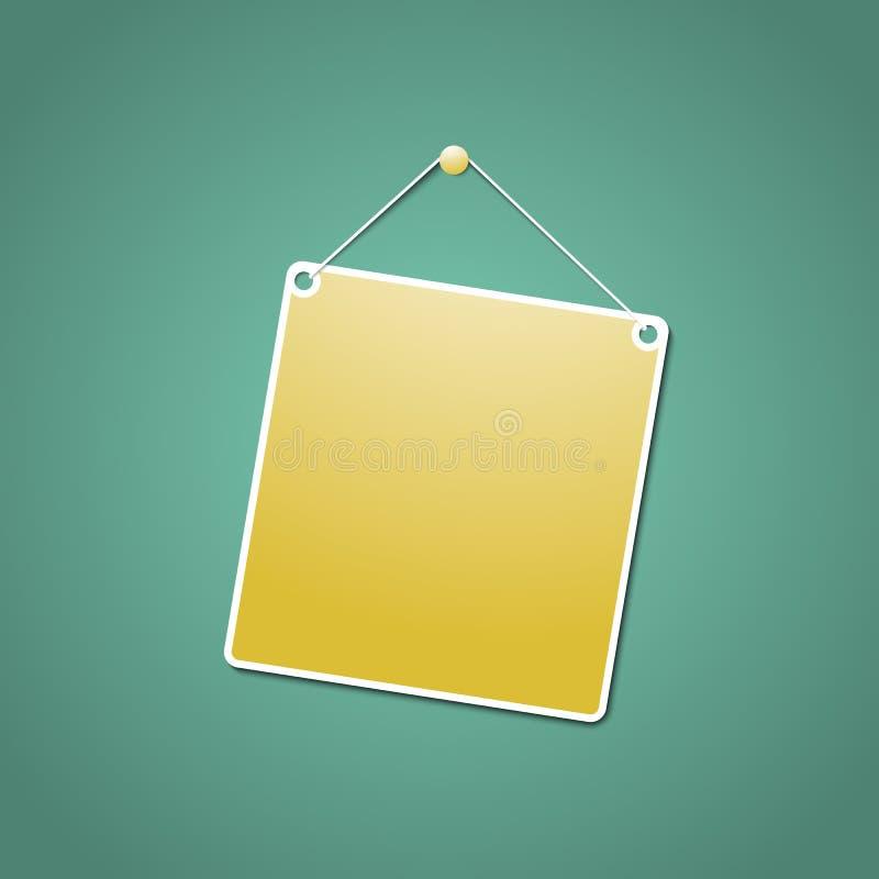 Yellow hanging sign royalty free illustration
