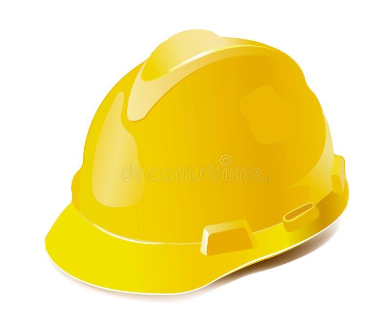 Yellow hard hat vector illustration