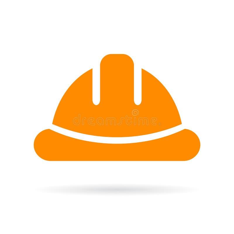 Yellow hard hat vector icon royalty free illustration