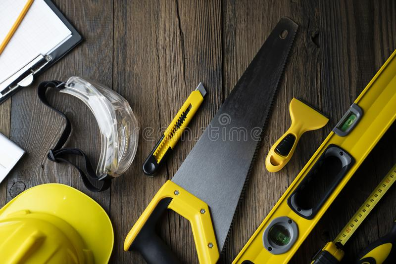 Contractor. Architecture and construction concept. royalty free stock photography