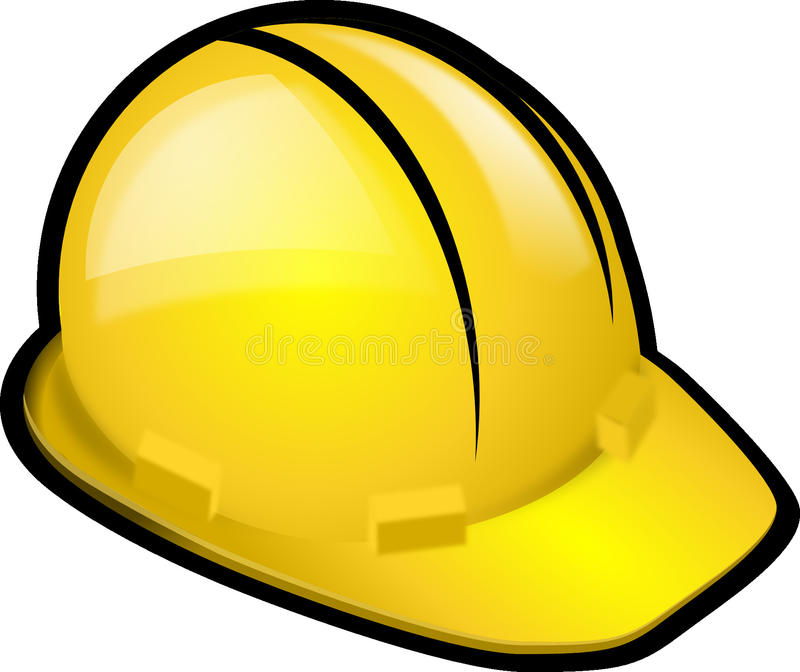 Yellow, Headgear, Hard Hat, Personal Protective Equipment stock photo