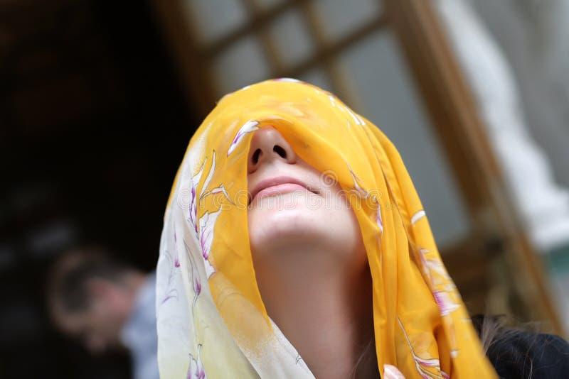 Yellow Headscarf Royalty Free Stock Photo