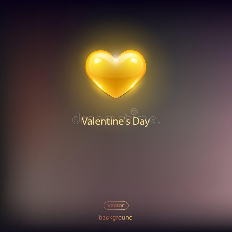 Yellow heart on a dark background. stock photos