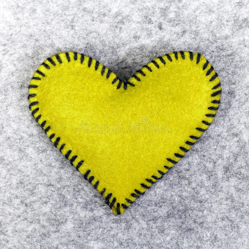 Yellow heart royalty free stock photography
