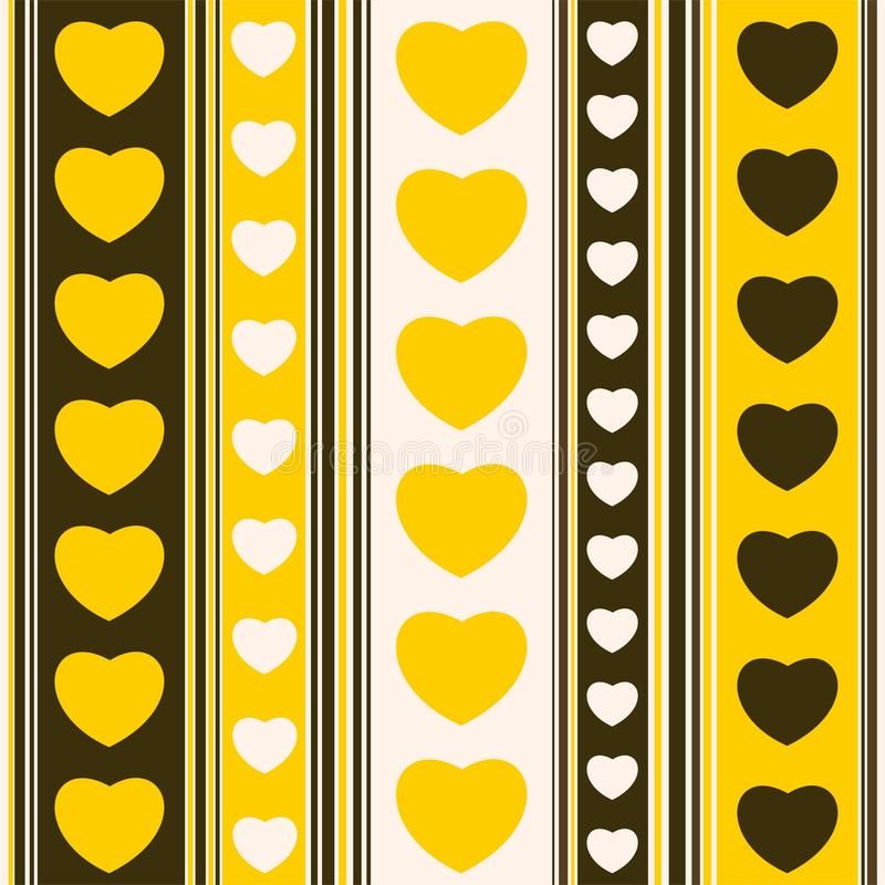 Download Yellow hearts and strips stock vector. Image of artistic - 41097446