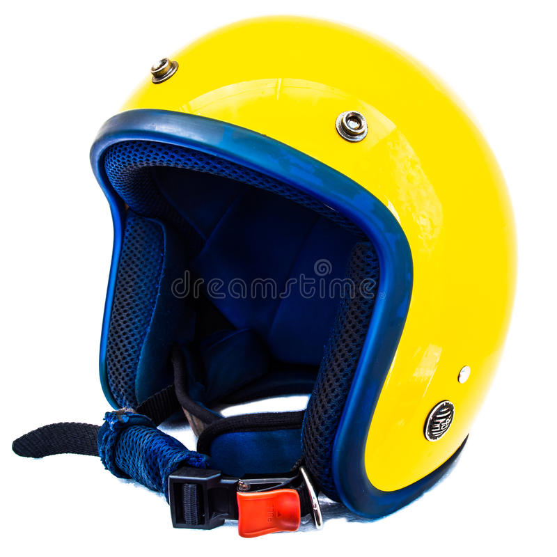 Yellow helmet stock image
