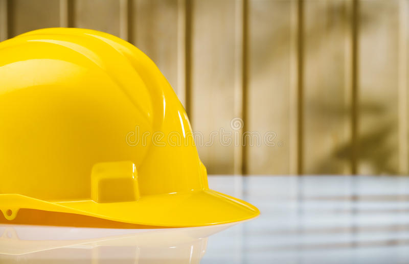 Download Yellow Helmet On White Table Stock Image - Image: 25200841