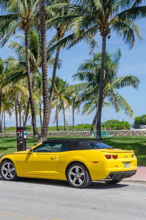 Yellow High Tech Chevrolet Camaro SS Convertible Editorial ...