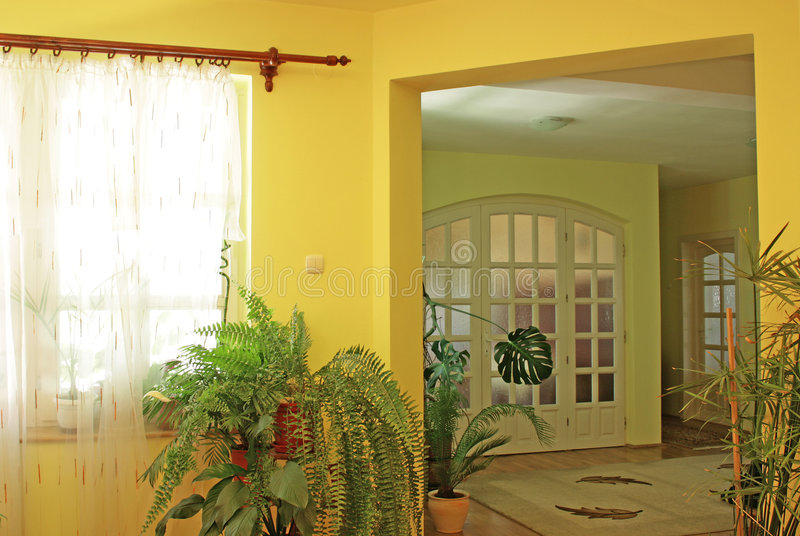 Yellow home interior royalty free stock images