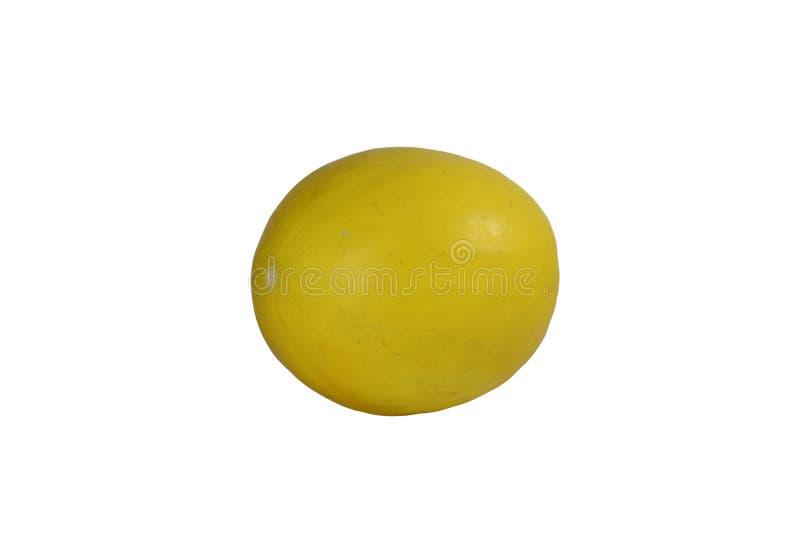 Yellow honeydew melon fruit. Isolated on white background stock photo