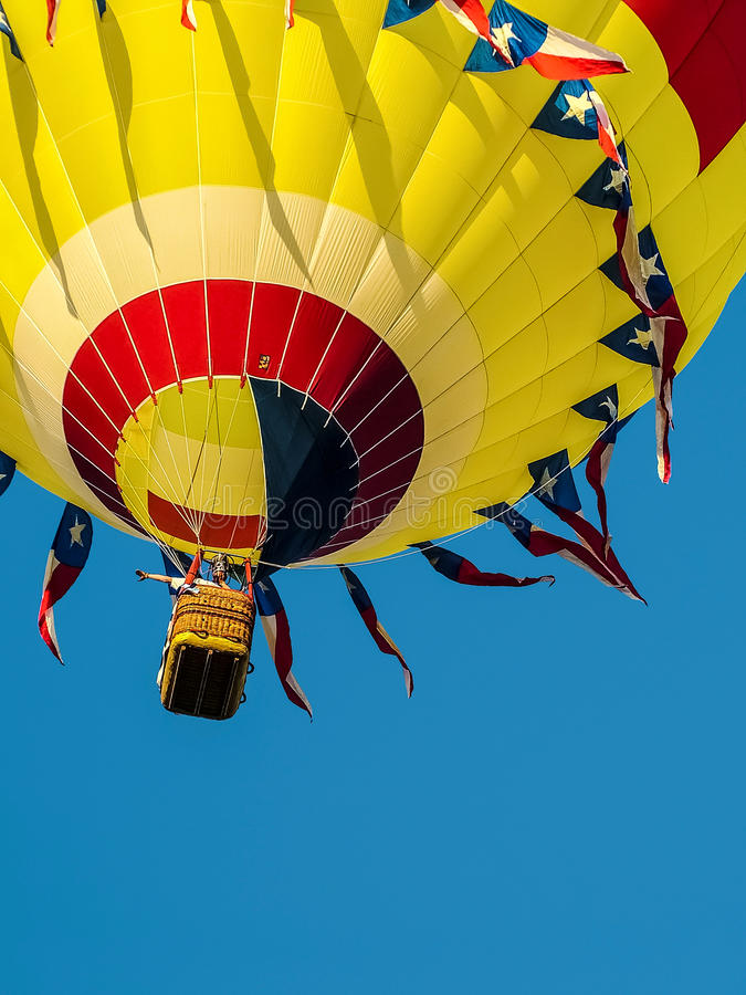 Download Yellow Hot Air Balloon stock image. Image of blue, balloon - 56508089