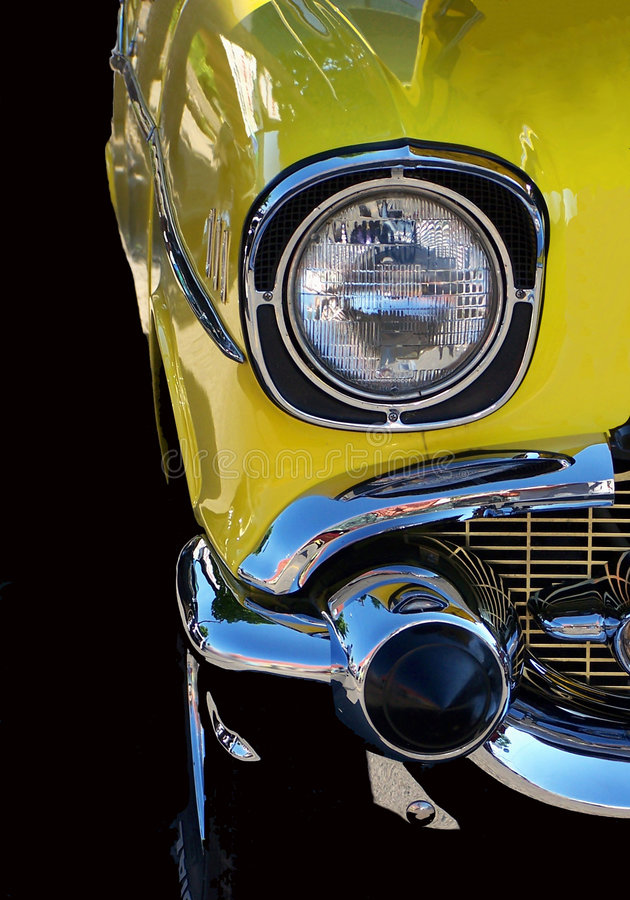 Download Yellow Hot Rod stock photo. Image of auto, bumper, vintage - 138046