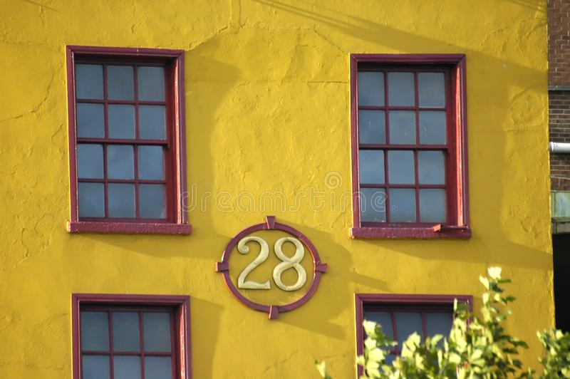 Yellow House Stock Photography