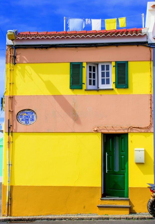Yellow house stock photos
