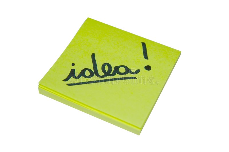 Yellow idea royalty free stock images