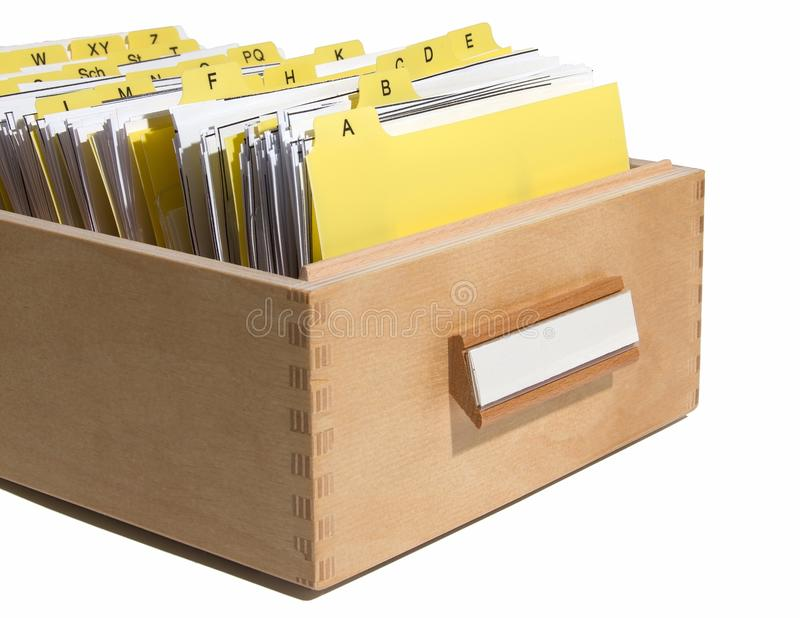 Download Yellow index in card box stock photo. Image of organize - 22491428
