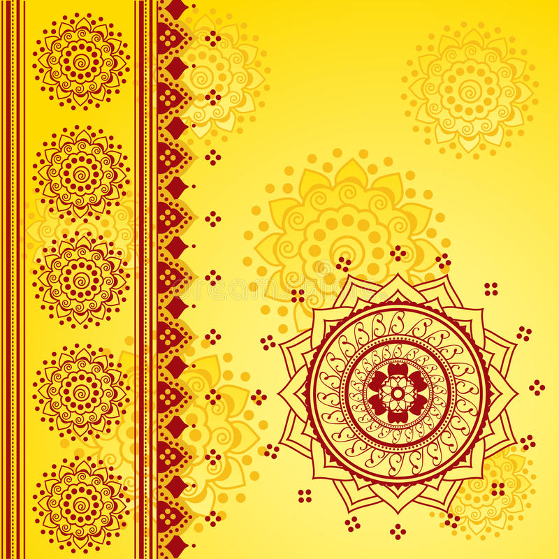 Yellow Indian background vector illustration