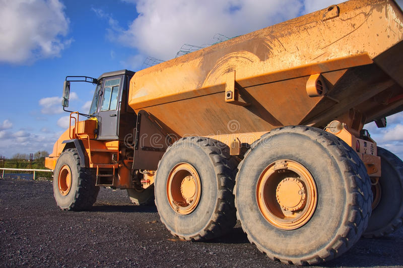 Yellow Industrial Heavy Earth Loader Outside Stock Photos