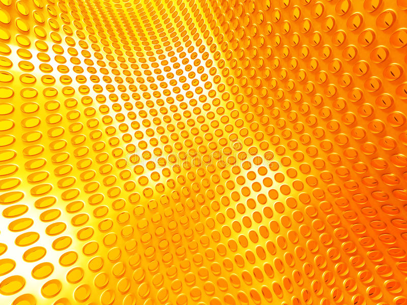 Yellow Industrial Metallic Shiny Background stock illustration