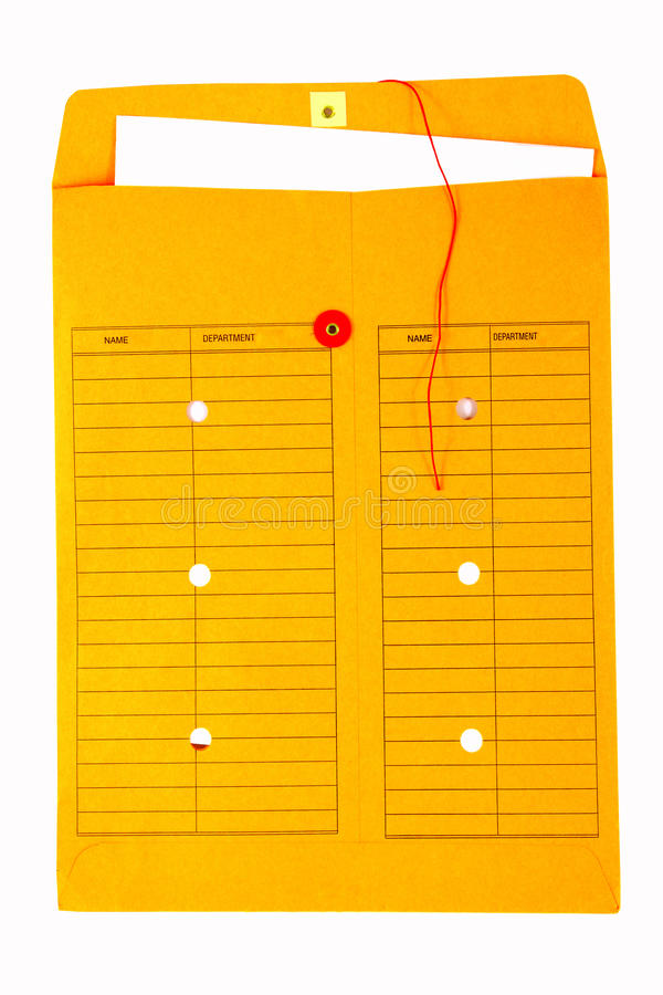 Yellow Interoffice Envelope royalty free stock image