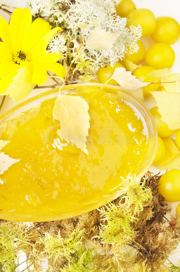 Yellow jam stock images