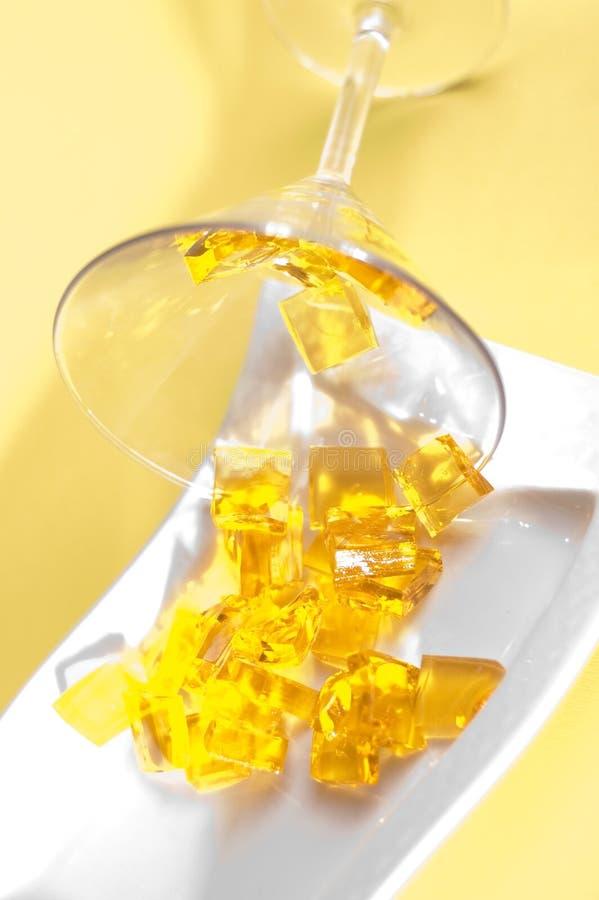 Yellow jelly royalty free stock photos