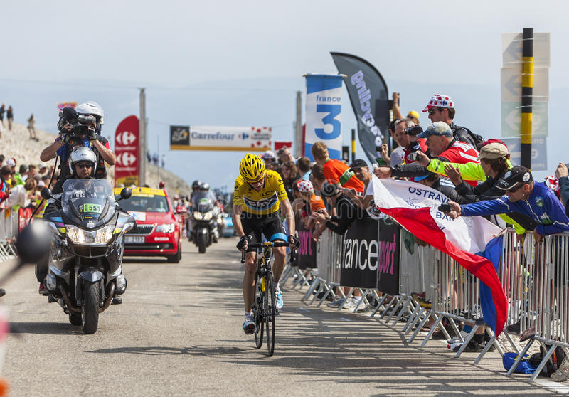 Download Yellow Jersey On Mont Ventoux Editorial Stock Image - Image: 32284819