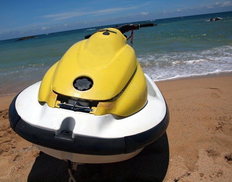 Download Yellow Jet Ski stock photo. Image of waves, beach, handle - 18894056
