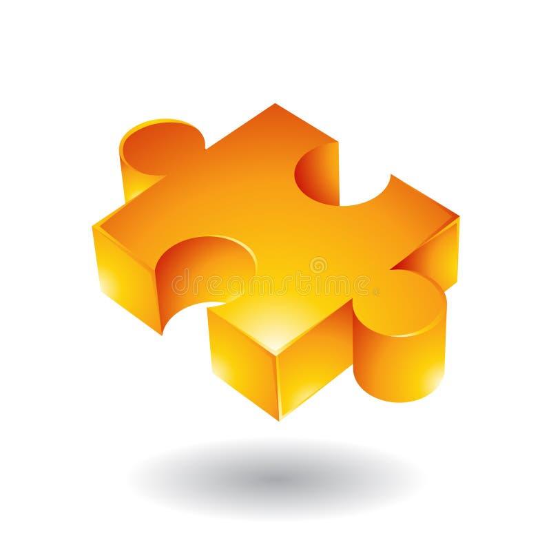 Download Yellow jigsaw stock vector. Image of choice, match, logos - 14978374