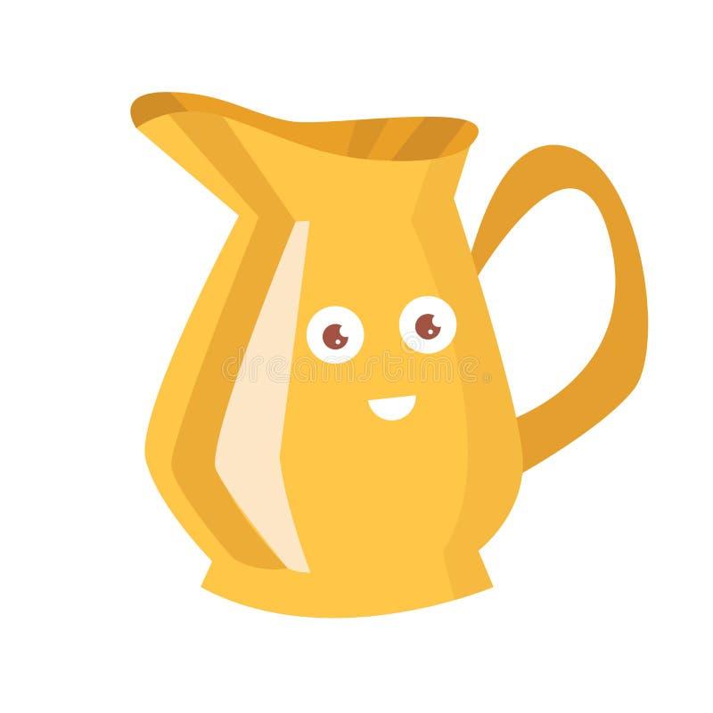 Free Yellow Jug With A Face. Vector. Cartoon Royalty Free Stock Photos - 109489928
