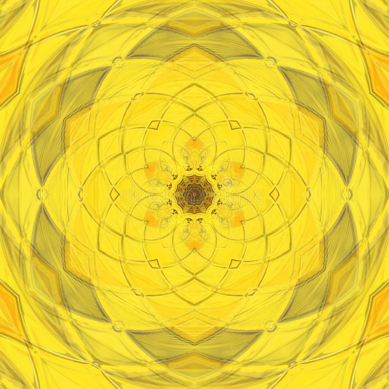 Yellow kaleidoscope royalty free illustration