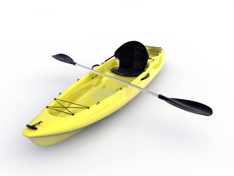 Download Yellow kayak stock illustration. Illustration of international - 19786000