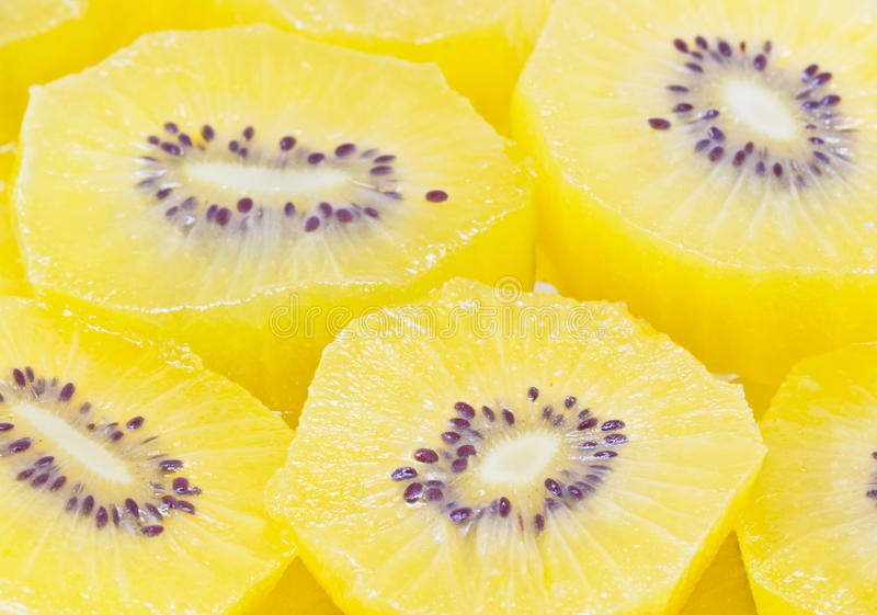 Download Yellow Kiwi Fruit Sliced. stock photo. Image of gold - 34260976