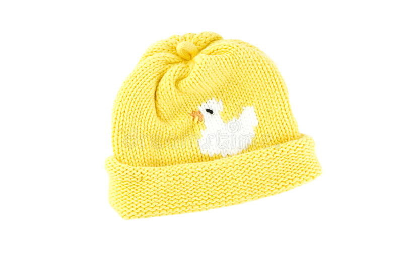 Yellow Knit Baby Hat