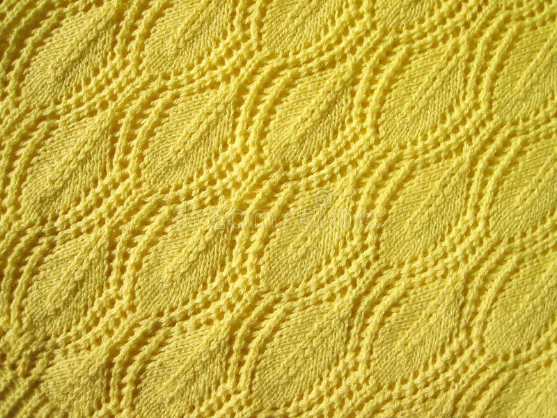 Download Yellow knitted abstract stock photo. Image of soft, handmade - 16207978