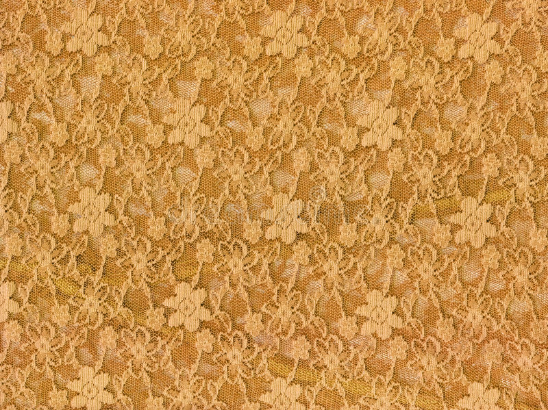 Yellow lace fabric textile texture. To background stock illustration