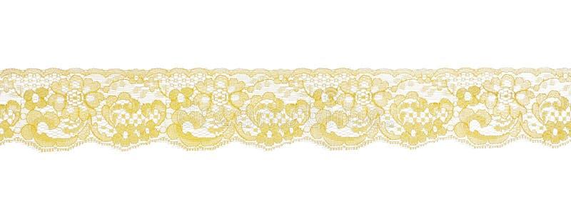 Yellow lace pattern. Studio cutout stock photos