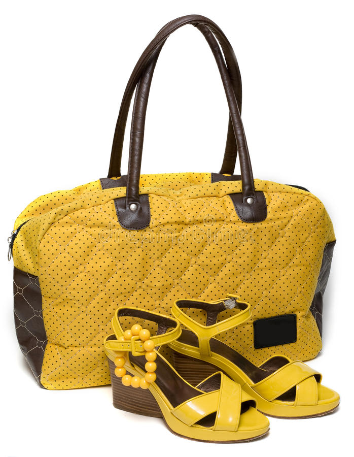 Download Yellow Lady Bag And Yellow Sandals Stock Photo - Image: 12281182