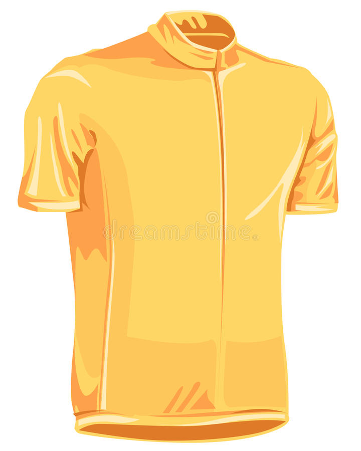 Yellow leader bicycle jersey stock illustration