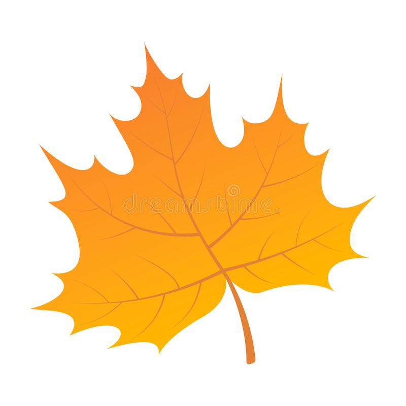 Free Yellow Leaf Of Tree Icon, Isometric Style Stock Photography - 123937032