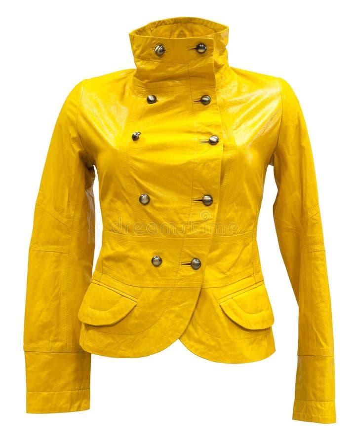 Free Yellow Leather Jacket Stock Photography - 25014752