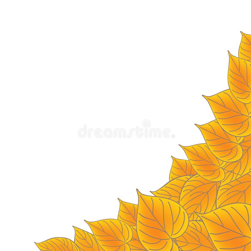 Yellow leaves over white. Fall vector background. Yellow leaves over white. Fall vector background royalty free illustration
