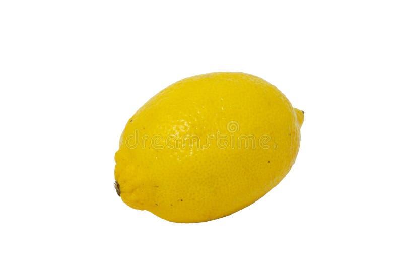 An yellow lemon fruit isolated stock photo