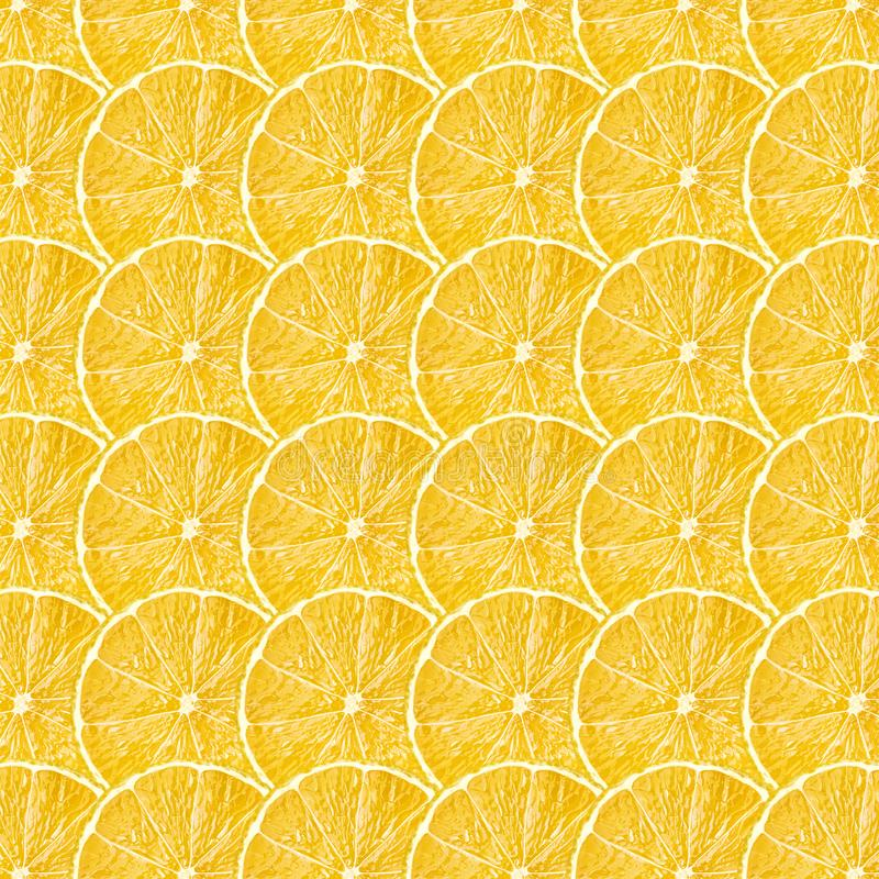 Yellow lemon fruit slices texture stock images